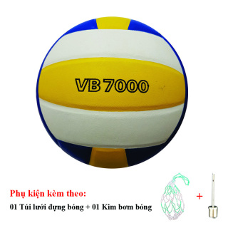 Bóng Chuyền Da Thăng Long VB7000 + Túi Lưới Đựng Bóng + Kim Bơm Bóng thumbnail