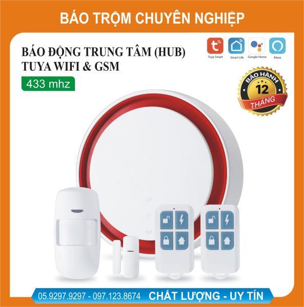 Giá Bộ báo động chống trộm qua điện thoại Wifi + GSM Tuya, Smart Life