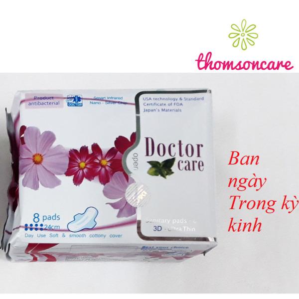 Băng vệ sinh Doctor care từ thảo dược - Loại ban ngày Gói 8 miếng