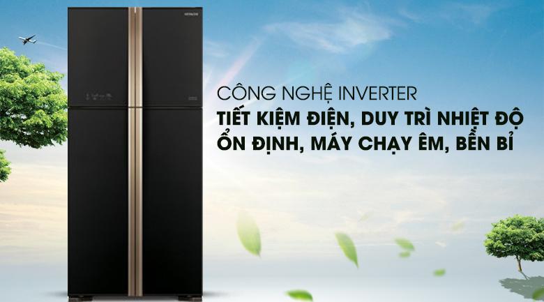 Tủ lạnh Hitachi Inverter 509 lít R-FW650PGV8 GBK Mẫu 201