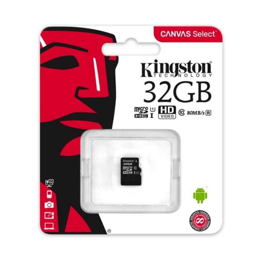 Thẻ Nhớ Kingston SDCS32 32GB microSDHC Canvas Select 80R CL10 UHS-I
