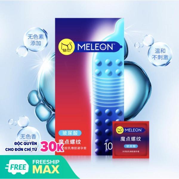 Bao cao su gân gai hạt lớn Meleon - hộp 10 cái, sản phẩm cam kết hàng đúng mô tả, chất lượng đảm bảo an toàn đến sức khỏe người sử dụng