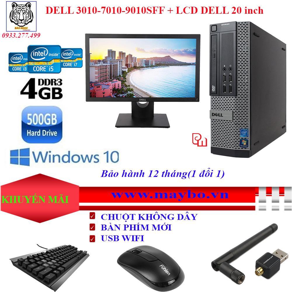 Máy DELL Optiplex 3010-7010-9010(i7-3770/4G/500G) + MÀN HÌNH LCD DELL 20 INCH-BẢO HÀNH 12 Tháng 1 đổi 1