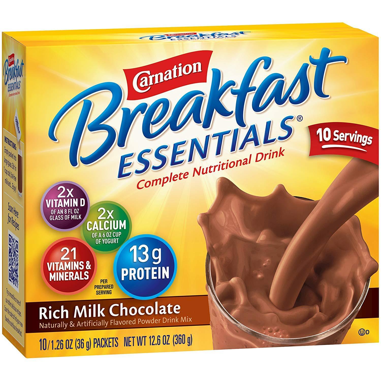 Sữa Bột Dinh Dưỡng Carnation Breakfast vị Socola nhập khẩu