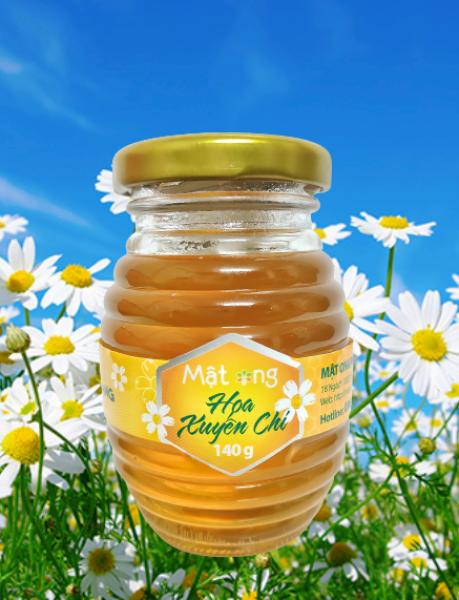 Mật ong cao cấp xuất khẩu Hoa Xuyến Chi Phúc Khang 140g - ISO 22000-2018 , Không nhiễm kháng sinh , kim loại nặng , An toàn cho người gìa và trẻ nhỏ