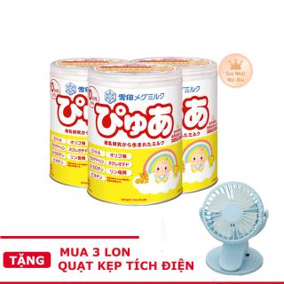 [Tặng quạt kẹp tích điện] 3 Lon sữa Snow Baby số 0 dành cho bé 0-9 tháng nội địa Nhật thumbnail