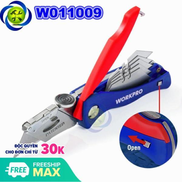 Dao rọc cáp Workpro W011009 loại xếp cò kèm 5 lưỡi thay thế