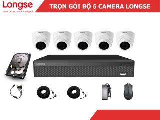 Combo bộ kit Longse 5 mắt dome nhựa 1080P-LITE thumbnail