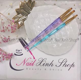 Set cọ vẽ gel, đắp gel uv, cọ vẽ móng tay nghệ thuật, nail art 2020 (set 3 cọ bản đắp gel cao cấp) thumbnail