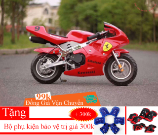 Xe Moto mini 50cc Xe mô tô ruồi - xe tam mao Bản bánh to - Dật nổ - Bô inox thumbnail