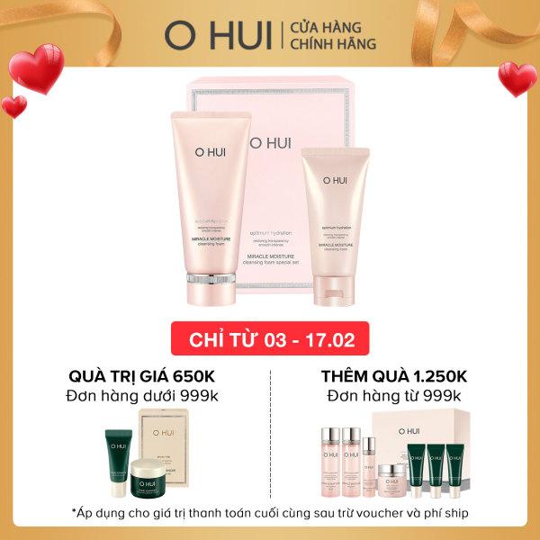 Bộ Sữa rửa mặt dưỡng ẩm OHUI Miracle Moisture Cleansing Foam 300ml