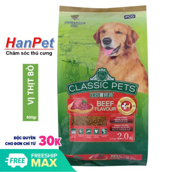 HCM-Thức ăn chó CLASSIC PETS - 400gr (thức ăn khô cho mọi loại chó trên 10kg) THỨC ĂN CHUỘT HAMSTER-HP10316TC hạt cho chó