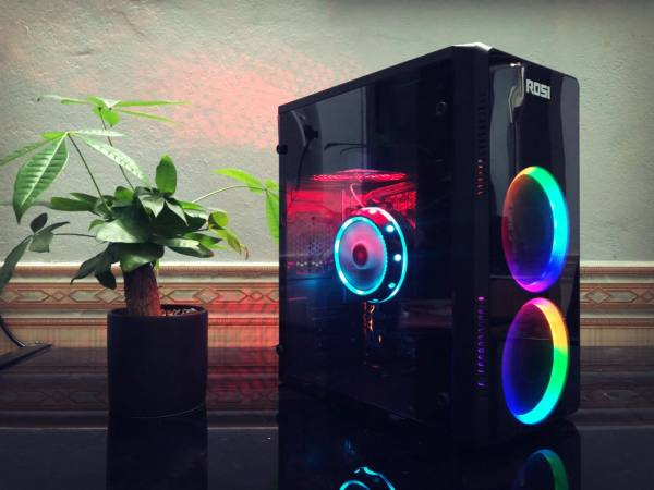 Giá Case PC Gaming rẻ gọn đẹp sẵn 2 fan LED