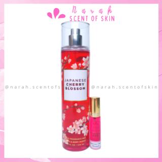 Xịt thơm body mist Bath and Body Works Japanese Cherry Blossom hương nước hoa & dưỡng ẩm da size 10mL thumbnail