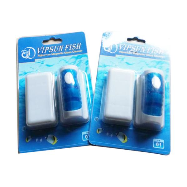 Cọ bể cá nam châm VF01 Kính Dày từ 5mm - 6mm kích thước 7 x 3.5 x 6cm Rửa Kính Bể Cá Cảnh Mini VipSun Fish