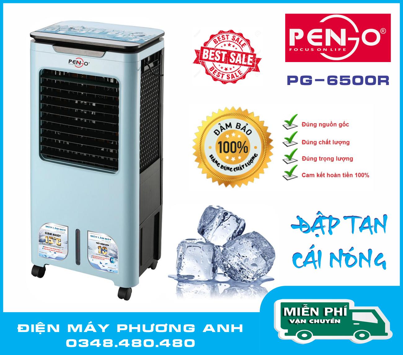 Bảng giá Máy làm mát không khí PENGO PG-6500R + Tặng lốc 6 chai nước yến thanh nhiệt Điện máy Pico