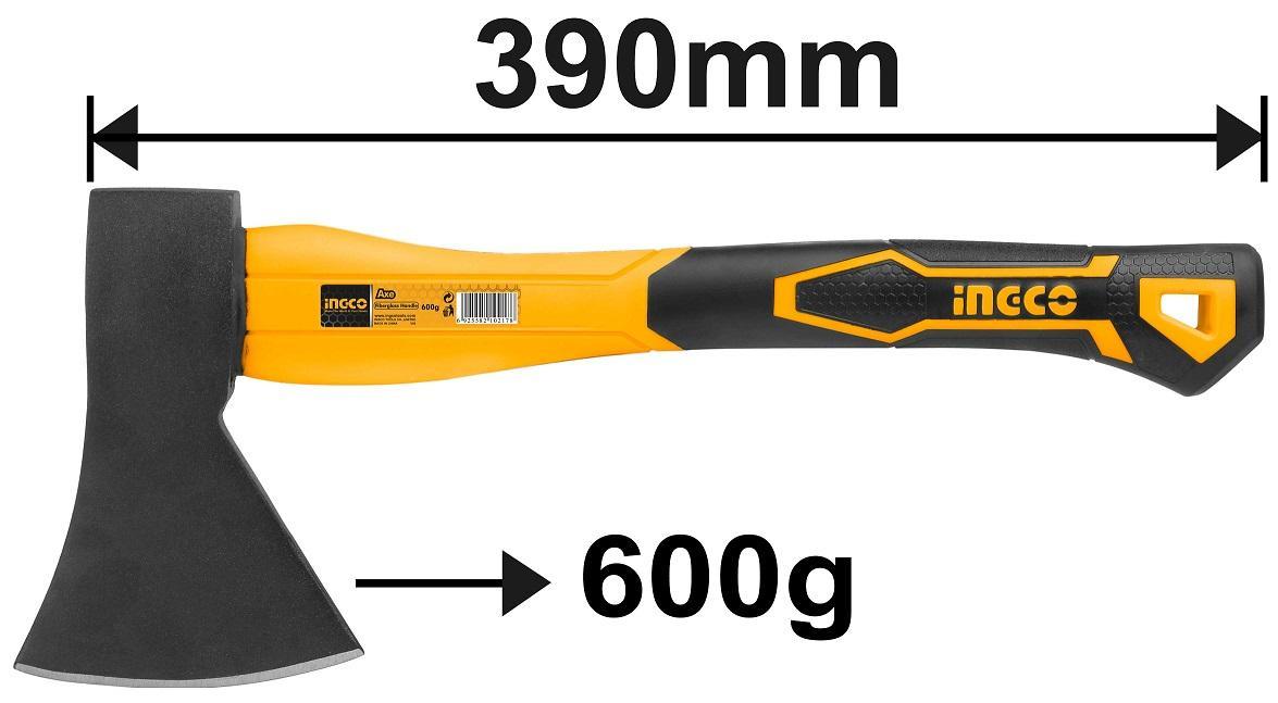 Búa rìu cán nhựa 600g 390mm INGCO HAX0206008