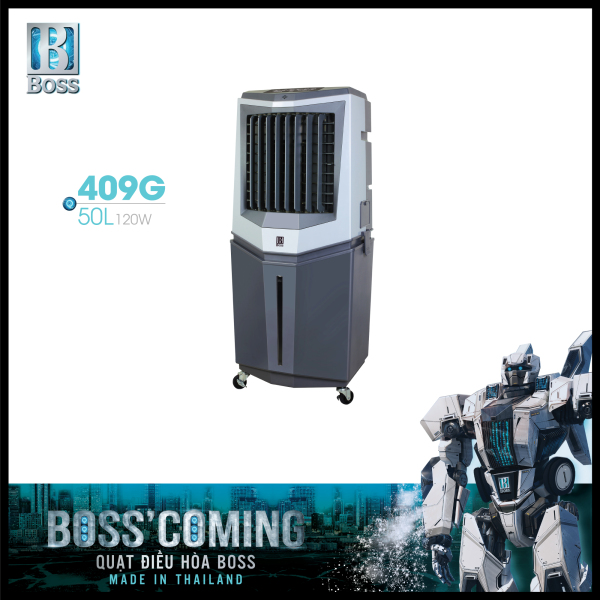 Bảng giá Quạt điều hòa không khí Boss FEAB-409-G - 50 lít - 120W | Bảo hành 12 tháng chính hãng | Made in Thailand
