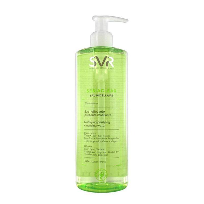 Nước tẩy trang giảm mụn bóng nhờn và dưỡng ẩm Svr Sebiaclear Eau Micellaire cao cấp