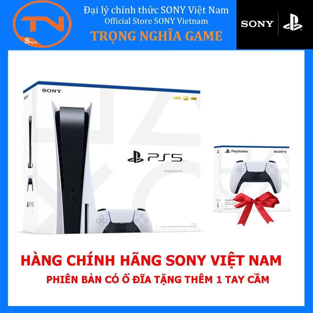 Máy PS5 Sony PlayStation 5 Standard Edition + 2 tay cầm PS5 - Hàng chính hãng