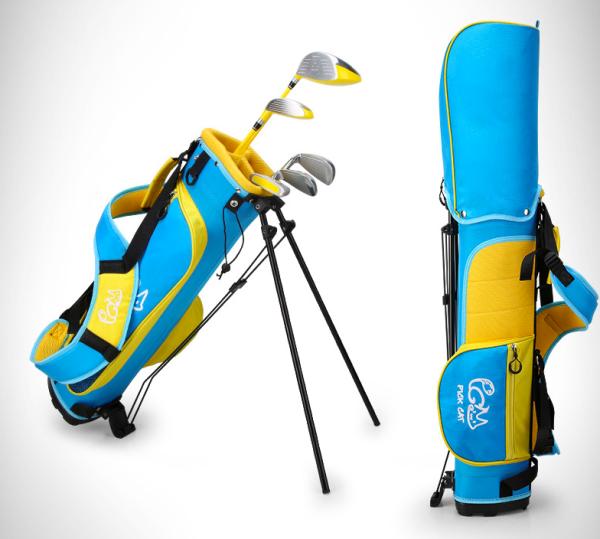 Bộ Gậy Golf Trẻ Em, Set Gậy Golf Pickcat Cho Trẻ Em Tập Golf, Cán Graphite và Thép, Kèm Túi Gậy chất liệu Nylon Chống Thấm Nước Cao Cấp