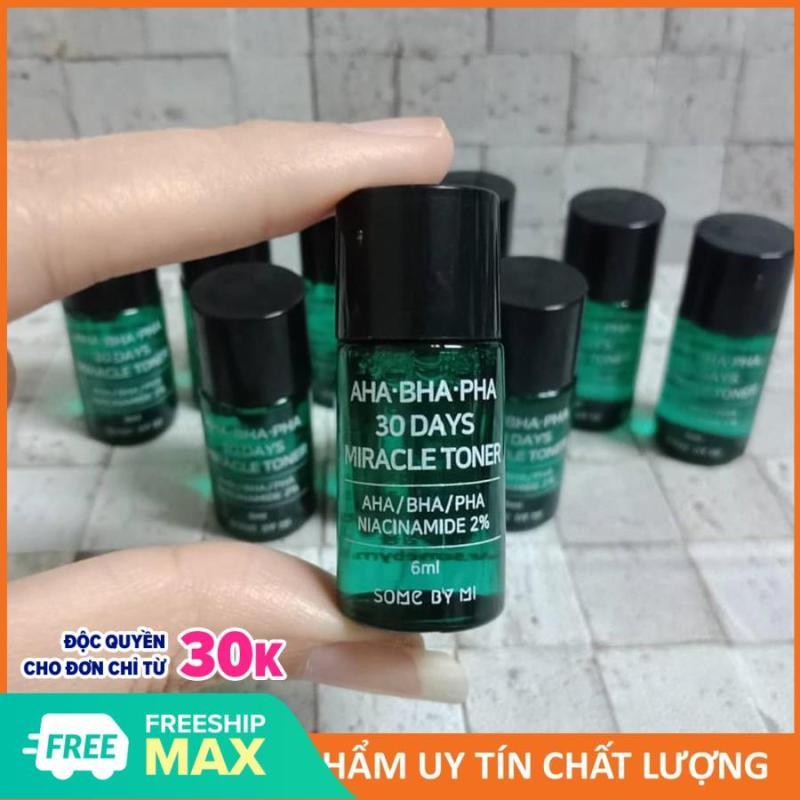 Nước Hoa Hồng Giảm Mụn Some By Mi AHA-BHA-PHA 30 Days Miracle Toner Mini 6ml giá rẻ