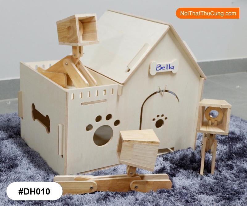 Nhà Gỗ Xinh Xắn Dành Cho Chó Mèo DH010