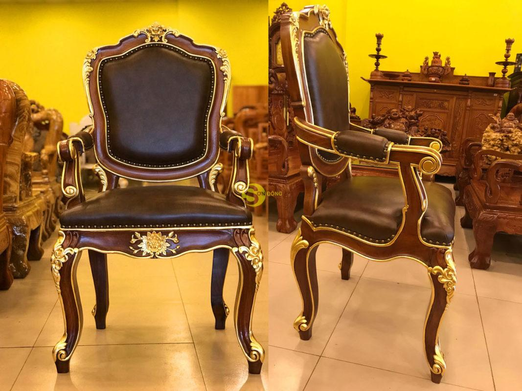 Ghế làm việc Victoria cổ điển, dát vàng – GGD05 giá rẻ