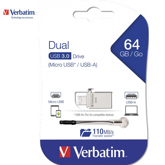 Giá USB Verbatim StorenGo OTG Micro USB 3.0 64GB
