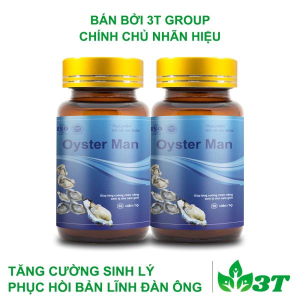 [Combo 2] Tinh Chất Hàu Oyster Man Tăng Cường Sinh Lý Nam Giới (1 hộp 30 viên) nhập khẩu