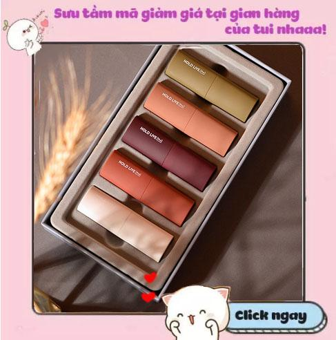 Set son Hold live special lip jewelry Box Mouse velvet Lipstick cao cấp