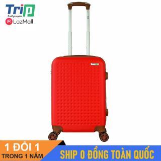 [MIỄN PHÍ SHIP] Vali TRIP P803A size 20inch (Màu đỏ) - Vali du lịch size xách tay lên máy bay, 2 dây kéo nới rộng khoang hành lý thumbnail