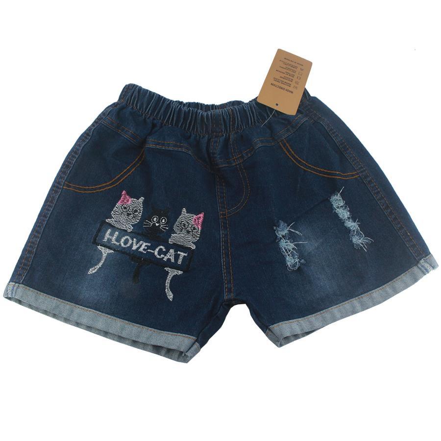 Quần jean cotton bé gái, Quần short jean cotton bé gái 3-10 tuổi