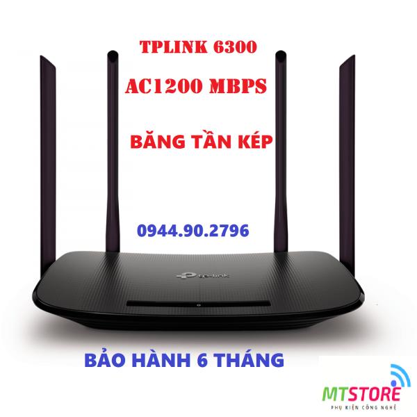 Bộ phát wifi TPLink 4 râu 6300/5620 Sóng Xuyên Tường - Modem Wifi băng tần kép chuẩn AC 1200 Mbps | Bo Phat Wifi TPlink giá rẻ | Cục phát wifi xuyên tường