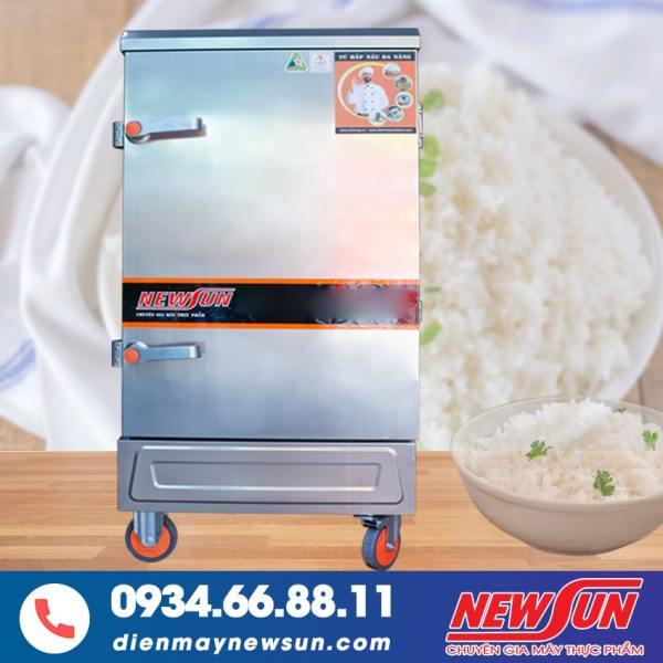 Tủ Nấu Cơm 8 Khay Điện Gas NEWSUN - Toàn bộ inox 304