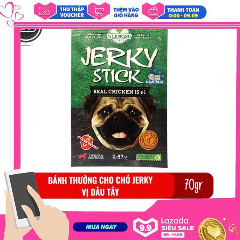 Bánh thưởng cho chó Jerky 70gr - Vị dâu tây