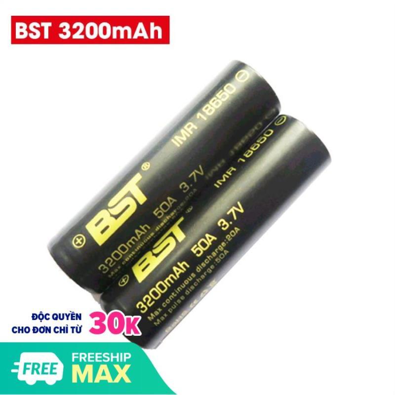 Bộ 2 Pin sạc Lithium BST 18650 3.7V 3200mah dòng xả 50A