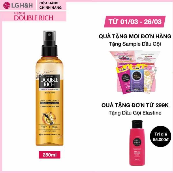 Nước dưỡng nuôi dưỡng tóc óng mượt cho tóc nhuộm Double Rich Extra Double Repair 250ml nhập khẩu