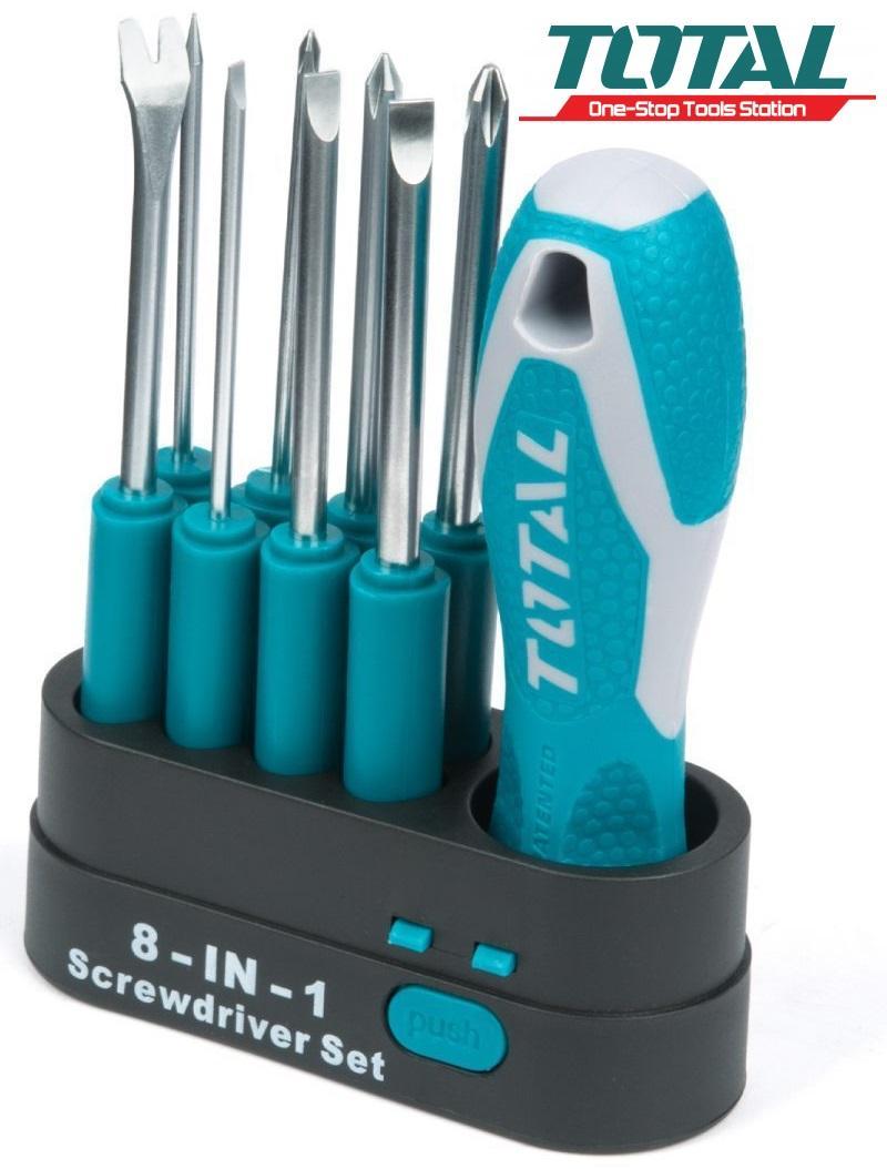 Bộ 9 đầu tuốc nơ vít tô vít Screwdriver Set Total THT250906