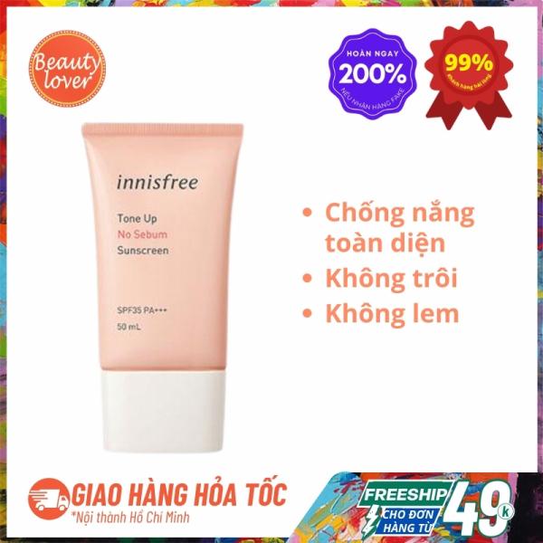 Kem Chống Nắng Innisfree Tone Up No Sebum Sunscreen SPF50+ PA++++ 50ml – Beauty Lover Kem Chống Nắng Innisfree Hồng Nâng Tông Và Bảo Vệ Da Hiệu Quả giá rẻ