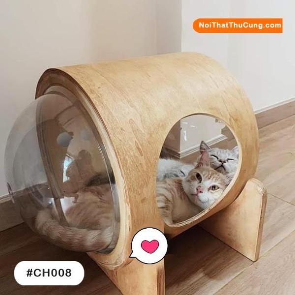Nhà Gỗ Phong Cách  Phi Hành Gia  Cho Mèo CH008