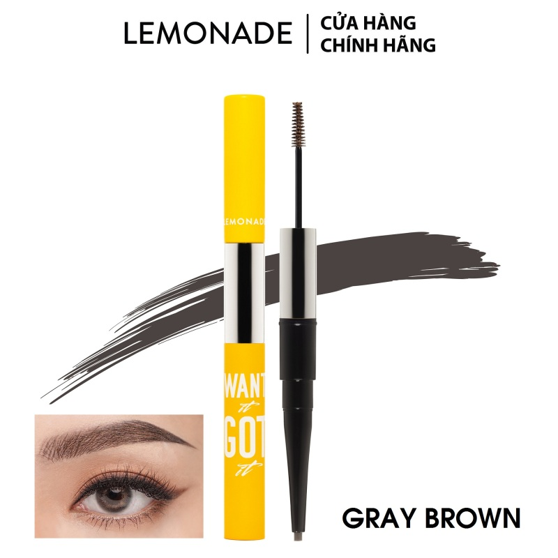 Chì kẻ mày 2 đầu Lemonade Want It Got It Dual Eyebrow 4g