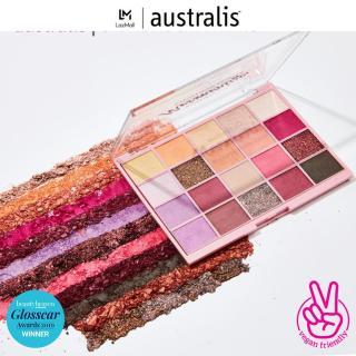 Bảng phấn mắt 20 màu ánh nhũ dạng lì Australis Mesmerize Eyeshadow Palette 20g-Hàng Úc Chính Hãng thumbnail