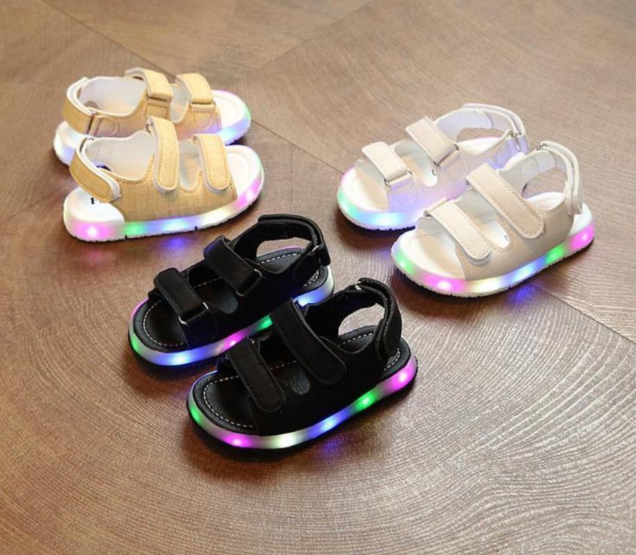 Mã Giảm Giá Khi Mua Sandal Trẻ Em Quai Ngang Có Đèn Nháy ( Vàng, Trắng, Đen)