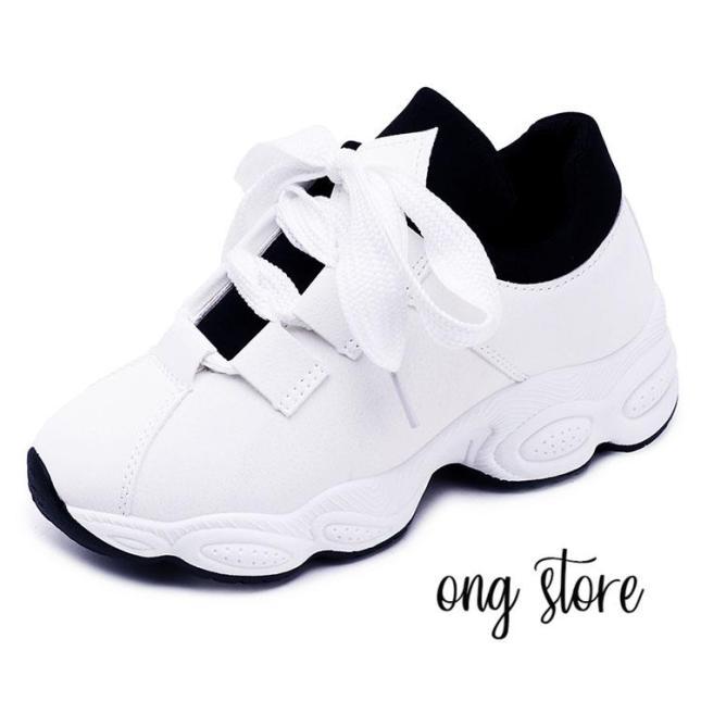 (dây to) Giày thể thao nữ giày sneaker nữ đế sóng hot 2018 giá rẻ