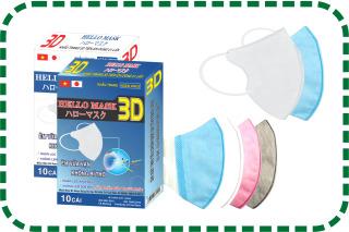 [ Hộp 10 chiếc ] Khẩu Trang 3D Nhật Hello Mask - hàng xuất thumbnail