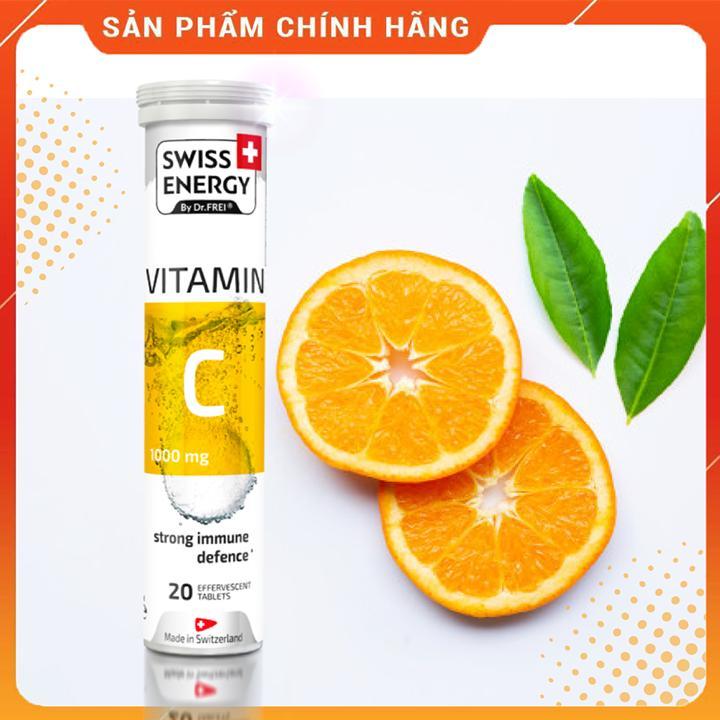 Viên Sủi Swiss Energy Vitamin C 1000mg - Tăng Sức Đề Kháng và Làm Đẹp Da (20 Viên/ Tuýp)