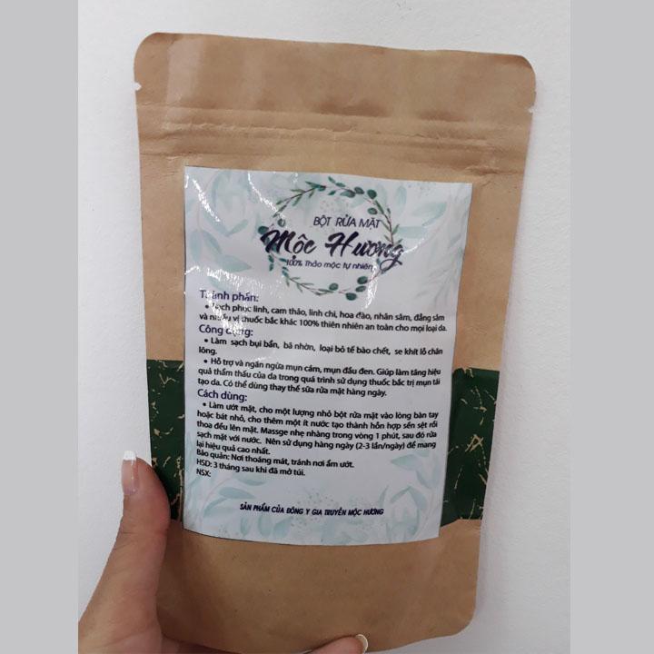 Bột rửa mặt thảo dược kiểm soát nhờn, làm sạch da, ngừa mụn gói 100gr nhập khẩu