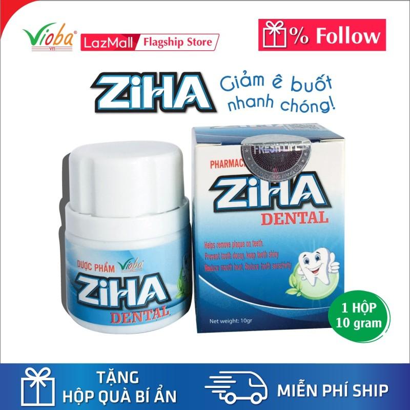 Giúp làm sạch mảng bám trên răng, giảm đau nhanh răng miệng, ngừa sâu răng, giảm nhiệt miệng, ê buốt răng miệng, giúp răng sáng bóng, sản phẩm thiết yếu cho mọi nhà - Sản phẩm Ziha Dental của Vioba hộp 10gr