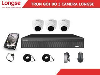 Combo bộ kit Longse 3 mắt dome nhựa 1080P-LITE thumbnail